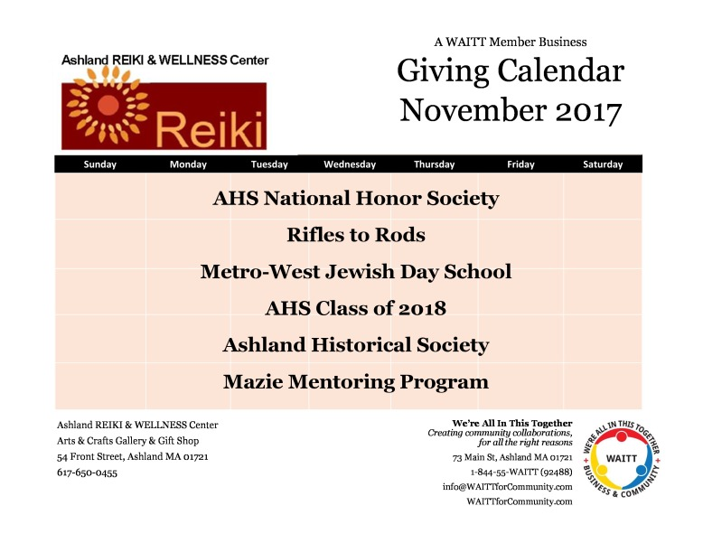 ashland reiki nov