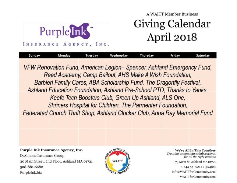 purple ink april