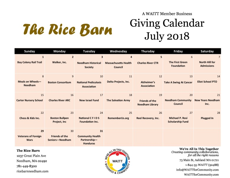 rice barn july